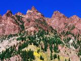 Red Mountains Near Maroon Bells  Aspen  Colorado