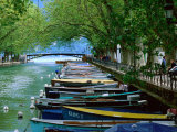 Boats on Canal du Vasse  Annecy  Rhone-Alpes  France