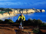 Biking Above Algarve Coast Near Lagos  Azores  Portugal