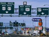Route 66  Road Signs Amarillo Boulevard  Amarillo  Texas