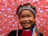 Ethnic Dao Lantien Girl from Mountainous Northern Vietnam  Tam Duong  Lao Cai  Vietnam
