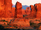 Windows Section at Sunset  Arches National Park  Utah