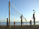 Beach Volleyball at Legian Beach  Bali  Indonesia