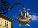 Golden Ship Hanging Sign  Old Town  Gyor  Gyor-Moson-Sopron  Hungary