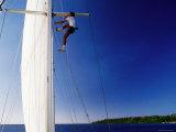 Man Climbing Mast of Yacht  Port Vila  Shefa  Vanuatu
