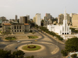 Town Hall  Catholic Cathedral and Roundabout  Maputo  Mozambique