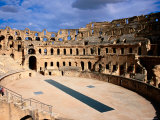 Amphitheatre at Colosseum of El-Jem  El-Jem  Mahdia  Tunisia