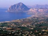North Coast and Monte Cofano  Erice  Sicily  Italy