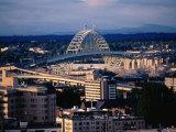Fremont Bridge in Distance  Portland  Oregon