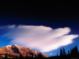 Cloud over Ruby Peak at Sunrise from Kebler Pass Road  Elk Mountains  Colorado