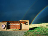 Rainbows over Park Entrance Sign  Great Sand Dunes National Park  Colorado