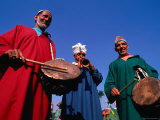 Three Musicians with Drums and a Trumpet  Delhi  India