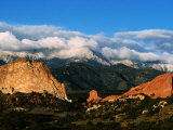 Garden of the Gods and Pikes Peak at Sunrise  Colorado Springs  Colorado