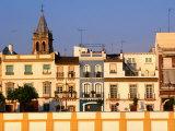 Building Facades along Guadalquivir River  Sevilla  Andalucia  Spain