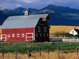 Barn with Mountains in Background  Joseph  Oregon