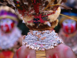 Detail of Sing Sing Jewellery and Headdress  Mt Hagen Cultural Show  Papua New Guinea