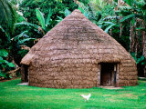 Traditional Kanak House  Lifou Island  Loyalty Islands  New Caledonia