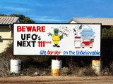 UFO Sign  Nullarbor Plain  Western Australia