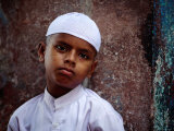 Muslim Boy in Chandni Chowk  Delhi  India