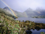 Rainbow at Dove Lake  Cradle Mountain-Lake St Clair National Park  Tasmania  Australia