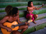 Polynesian Musicians  Tahiti  the Society Islands  French Polynesia