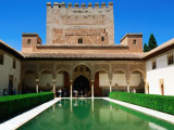 Patio de Los Arrayanes in Palacio Nazaries in Alhambra  Granada  Andalucia  Spain