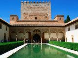 Patio de Los Arrayanes in Palacio Nazaries in Alhambra  Granada  Andalucia  Spain
