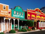 Colourful Western-Style Facade Near Sabino Canyon  Tucson  Arizona