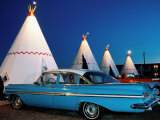 Wigwams and Old Car  Wigwam Motel  Route 66  Holbrook  Arizona