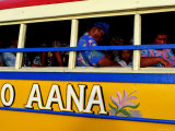 Passengers on Island Bus  Upolu  Samoa