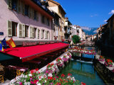 Thiou River Running through Town Centre  Annecy  Rhone-Alpes  France