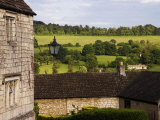 Typical Cotswold Houses and Countryside  Painswick  Gloucestershire  England