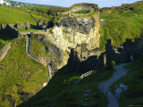 The Castle Ruins at Tintagel  Tintagel  Cornwall  England