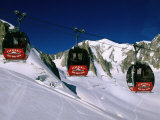 Valle Blanche Aerial Tramway Cabins  Rhone-Alpes  France