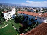 Santa Barbara County Courthouse Seen from Tower  Santa Barbara  California