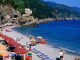 Beach on Ligurian Sea in Cinque Terre Region  Monterosso  Liguria  Italy