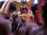 Man Playing Panpipe  Malaita Island  Malaita  Solomon Islands