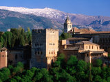 Alhambra Seen from Mirador San Nicolas in Albaicin District  Granada  Andalucia  Spain