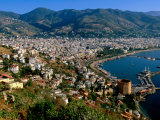 City and Marina Viewed from Surrounding Hillside  Alanya  Antalya  Turkey