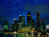 City Skyline from Marina Promenade  Singapore