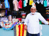 Man Outside Market Stall  Viti Levu  Western Division  Fiji