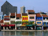 Former Chinese Shophouses  Now Restaurants  along Singapore River Boat Quay  Singapore