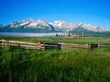 Arrow a Ranch and Sawtooth Mountains  Stanley  Idaho
