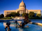 Fountain in Front of Missouri State Capitol Building  Jefferson City  Missouri