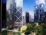Skyscrapers in Central  Hong Kong Island  Hong Kong  China
