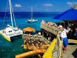Catamarans Moored outside Margaritaville Pub and Restaurant  Montego Bay  Jamaica