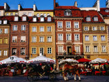 Summertime Open-Air Cafes on Old Market Square  Warsaw  Mazowieckie  Poland