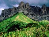 Sella Massif  Passo Gardena  Dolomites  Dolomiti di Sesto Natural Park  Trentino-Alto-Adige  Italy