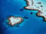 Heart-Shaped Reef  Hardy Reef  Near Whitsunday Islands  Great Barrier Reef  Queensland  Australia