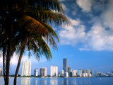Skyline from Rickenbacker Causeway  Miami  Florida